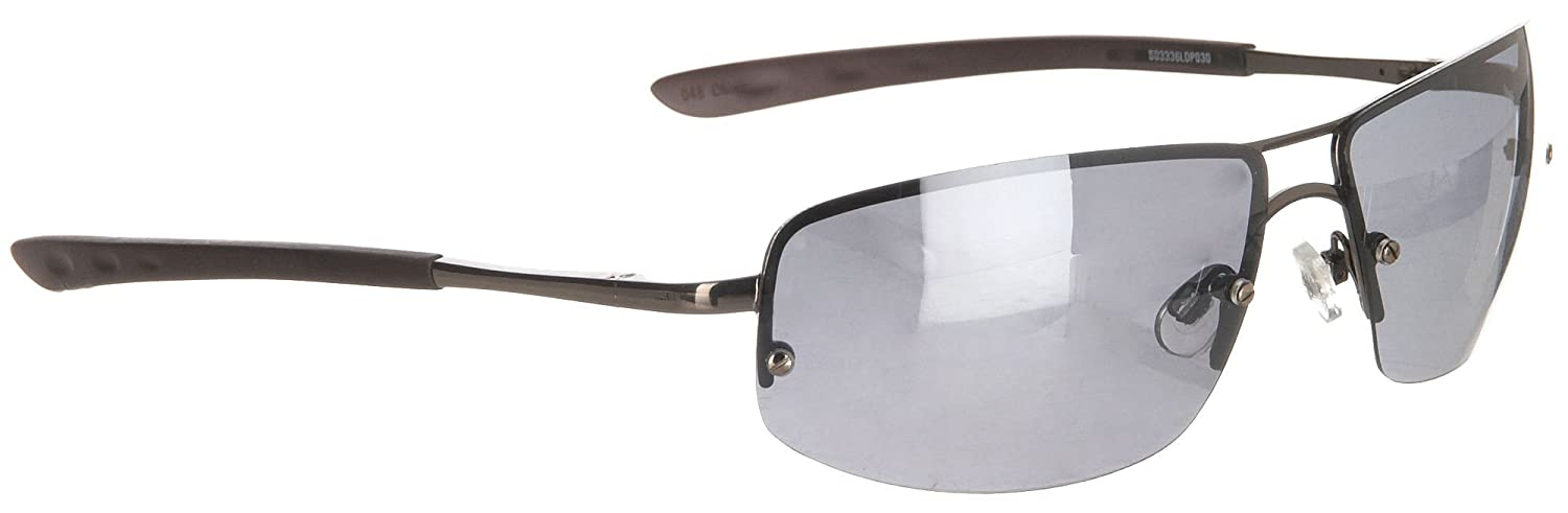 Dockers� Polarized Rimless Metal Pilot Sunglasses GUNMETAL GREY