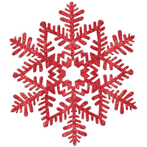 Amscan Glittery Christmas Snowflake Plastic Decoration, Large (11