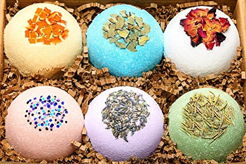 Spa Dog Bag Gift (Organic Bath Bombs Gift Set Vegan (3.2 oz)/Bath Bombs Bubble Bath Safe for Kids - Bath Bomb For Women with Bath Salts/Dead Sea Salt - Natural Bath Bombs Set - Bath Bombs Kit for Her)