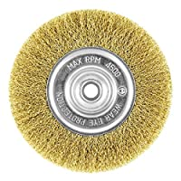 """EAB Tool 2160447 6"""" Brass Coarse Wire Wheel Wire Brush - Recyclable,"""
