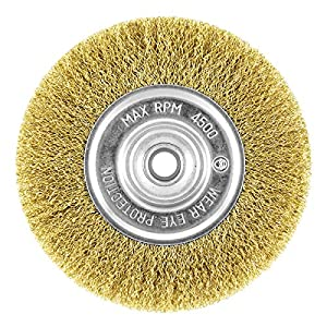 "EAB Tool 2160447 6"" Brass Coarse Wire Wheel Wire Brush - Recyclable,"