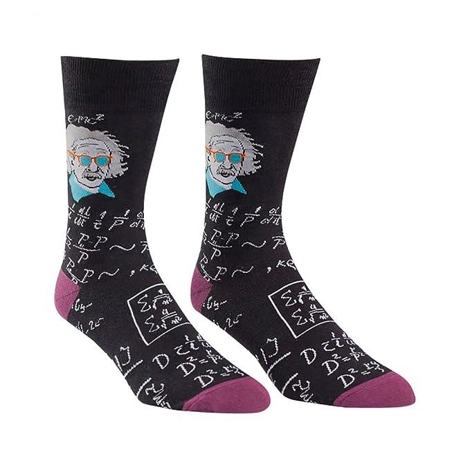 Sock It To Me Einstein relativamente frío Calcetines tripulación para  Hombres Talla 7-13 Negro