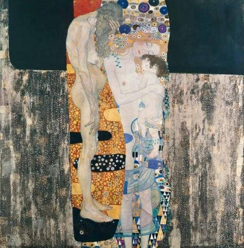 [Oil Painting 'Gustav Klimt-Three Ages Of Woman,1905', 20 x 20 inch / 51 x 52 cm , on High Definition HD canvas prints is for Gifts And Bar, Kids Room And Laundry Room Decoration,] (National Costume Of India Images)
