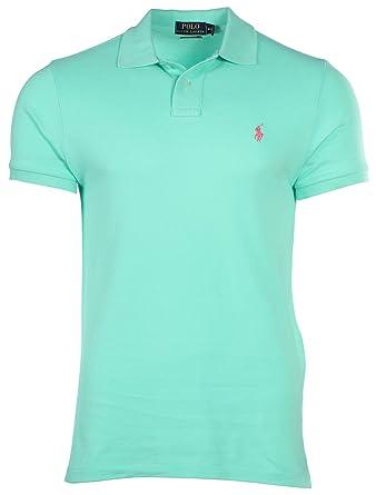 Polo Ralph Lauren Hombre Corte Clásico Malla Pony shirttyler Verde ...