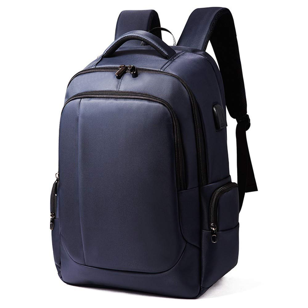 bluee DYR Backpack Business Backpack USB Computer Backpack Large pacity Waterproof and Wearable, Red