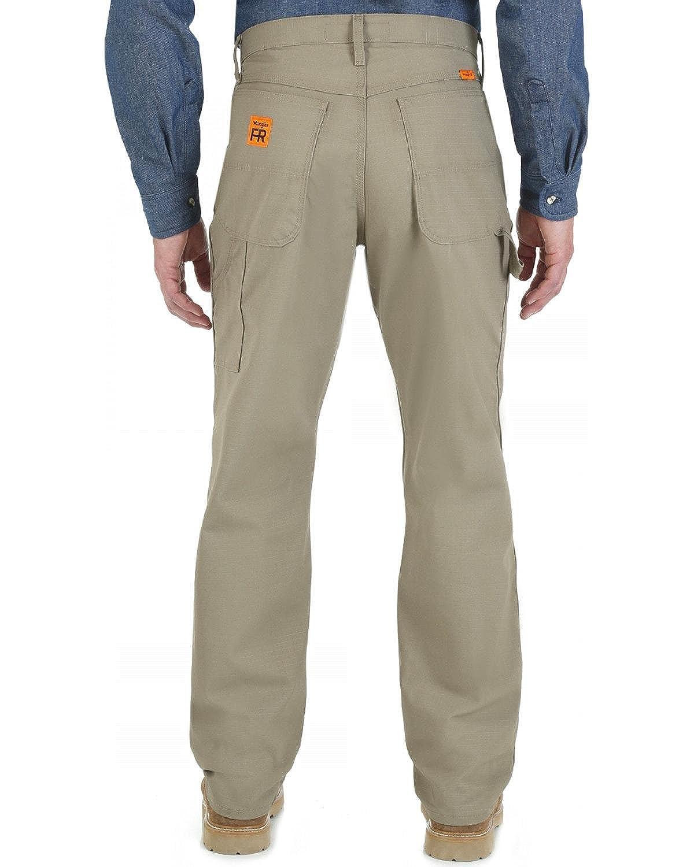 8d309bf05f25 Top4  Wrangler Men s Dark Khaki Flame Resistant Carpenter Pants - Fr3w02d.  Wholesale ...