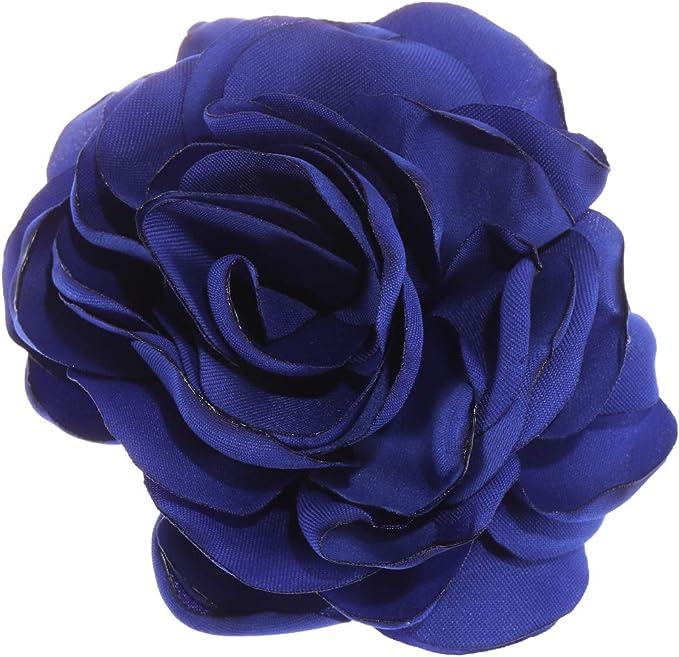 Royal Blue Rosette Birthday Hair Bow Badge Brooch Hair Clip Age Numbers 1-100
