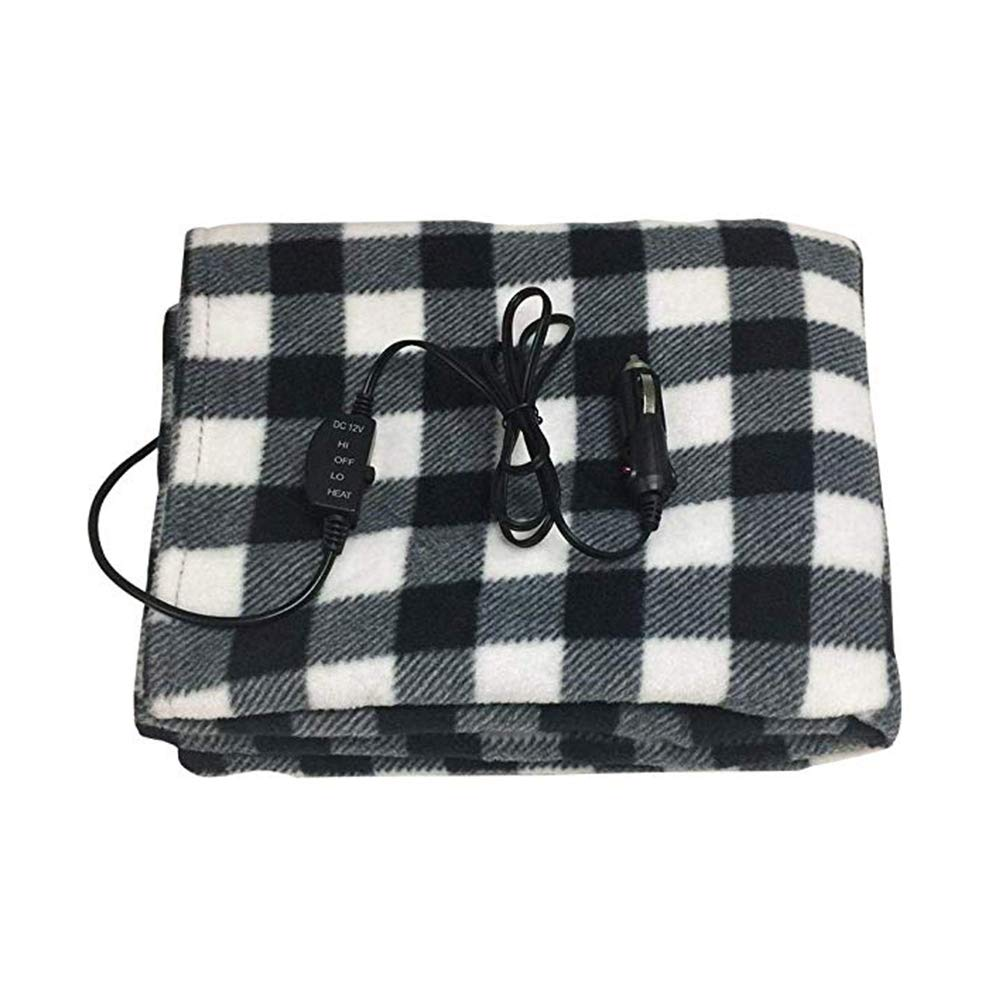 xingxinqi Electric Heated Blanket for Car 12V Vehicle Power Outlet Great for Cold Weather Traveling by xingxinqi