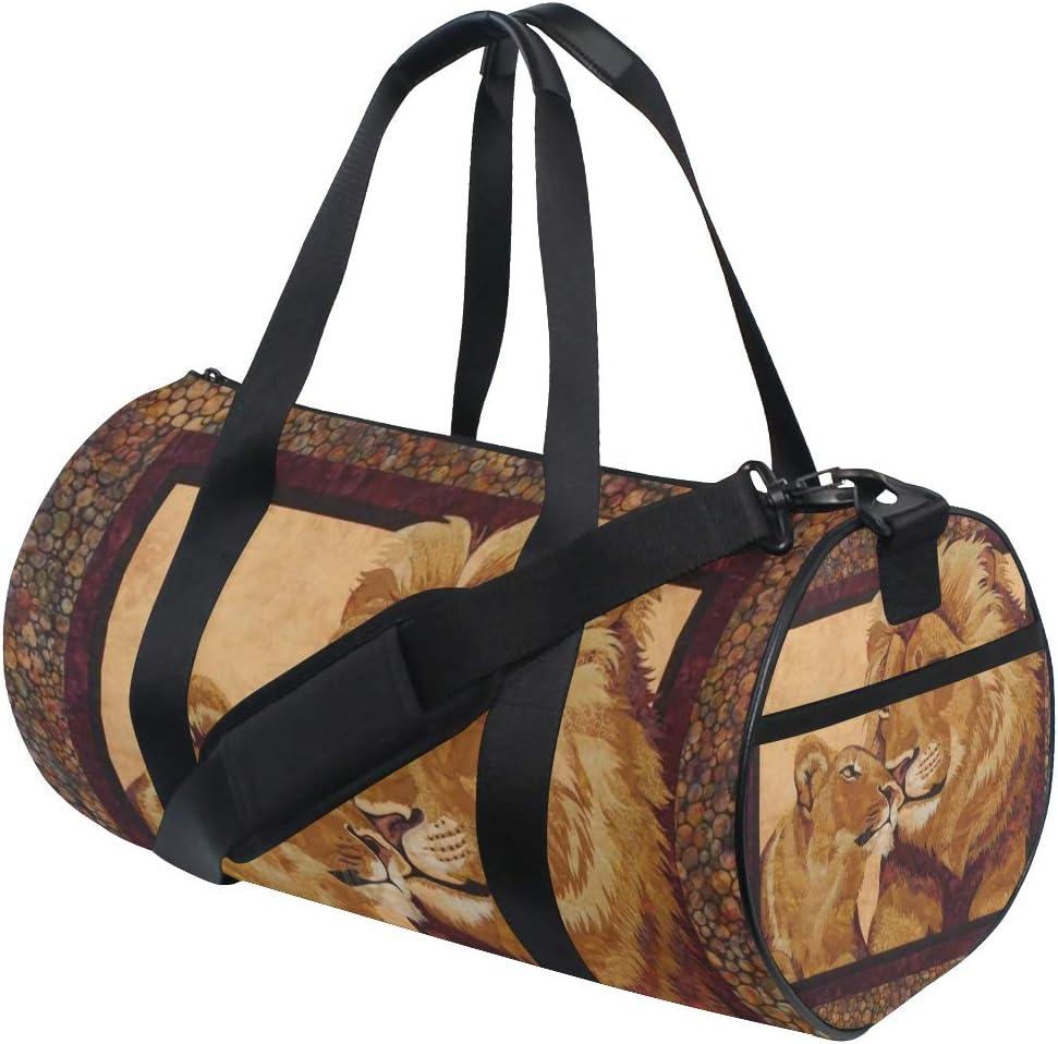 OuLian Gym Bag Yellow Rose Women Canvas Duffel Bag Cute Sports Bag for Girls