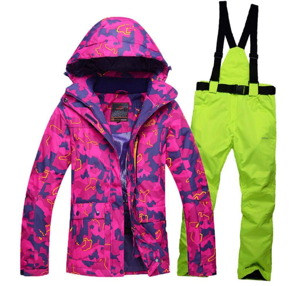 vert L Z&X Veste de Ski pour Femme - Veste pour Femme Chaude et résistante à la Neige, Manteau de Ski doublé en Polaire, Manchette Ajustable - VêteHommests de Ski idéals