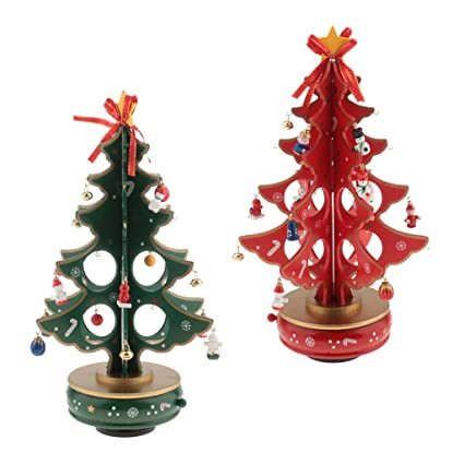 jili online 2x 3d holiday christmas tree christmas ornaments home party decorations wooden model puzzles with
