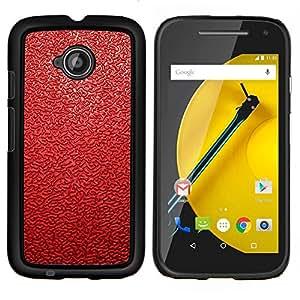 All Phone Most Case / Oferta Especial Duro Teléfono Inteligente PC Cáscara Funda Cubierta de proteccion Caso / Hard Case Motorola Moto E2 E2nd Gen // Red Leather Pattern