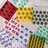 Mini Ziplock Baggies 1515 1000 Bags 10 Designs (1 pack of 100 per) Apple Get Real Collection 1.5'' X 1.5''
