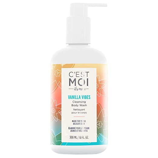 The C'est Moi Vanilla Vibes Cleansing Body Wash travel product recommended by Deborah Kerner on Pretty Progressive.