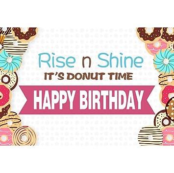 OERJU 2,2x1,5m Cumpleaños Fondo Feliz cumpleaños Levántate y ...