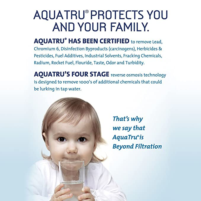 aquatru countertop water filter purification system with exclusive 4 ...