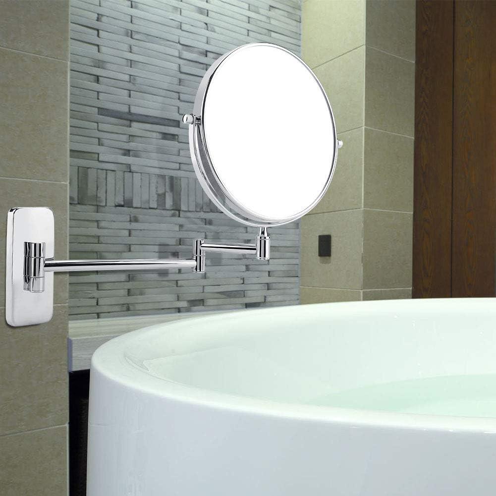 Espejo de Maquillaje de Doble Cara Giratorio Aumento 10x GOTOTOP Espejo de Pared cosm/ético Plegable para el ba/ño