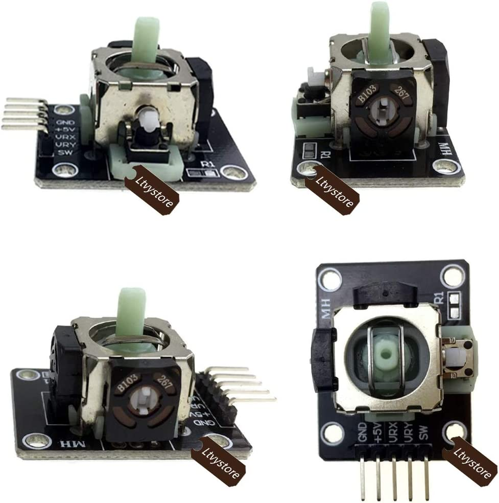Pack of 10 Ltvystore Game Controller Breakout Module Compatible for Joystick PS2 Arduino