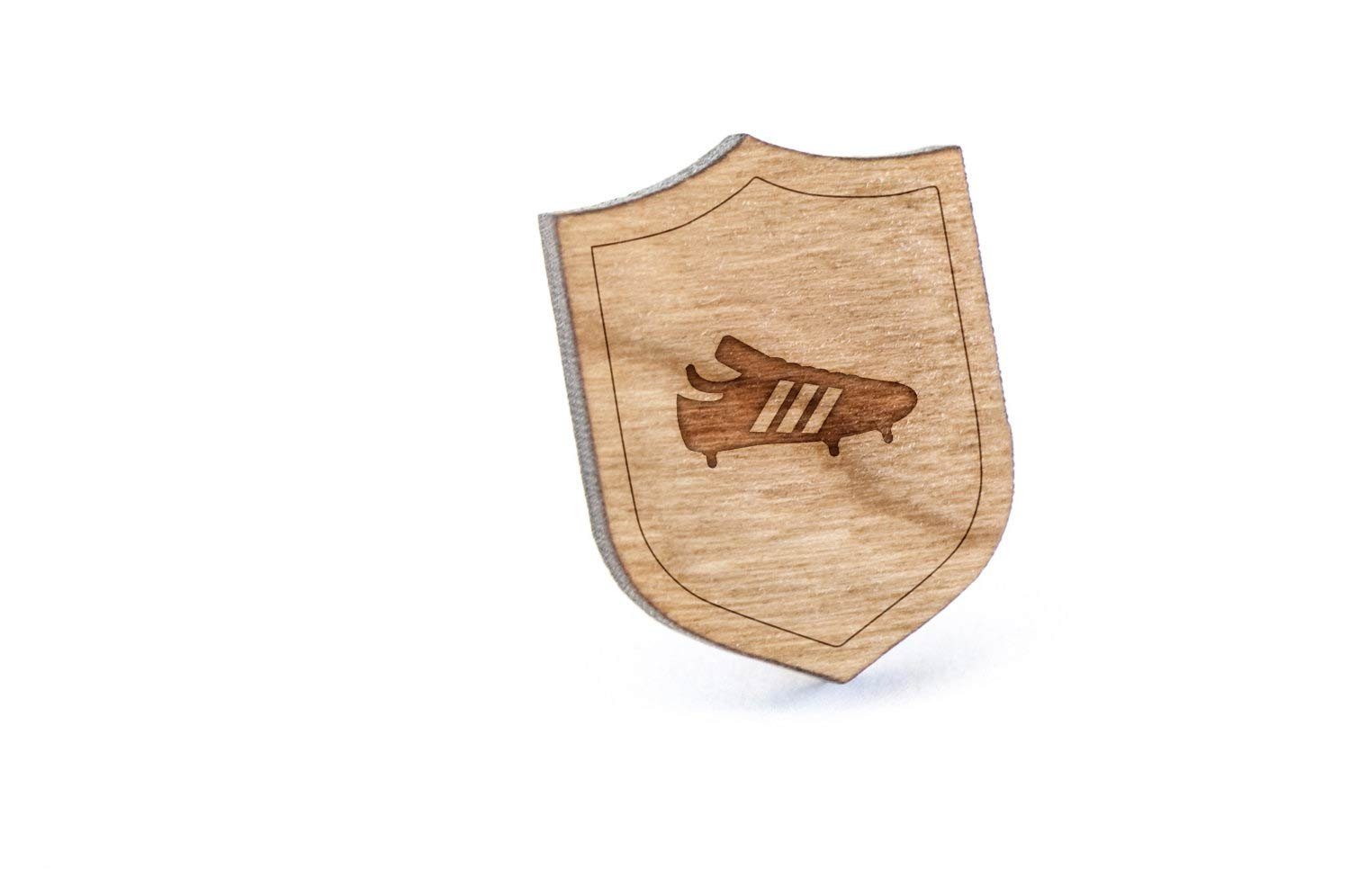 Soccer Boot Lapel Pin, Wooden Pin And Tie Tack   Rustic And Minimalistic Groomsmen Gifts And Wedding Accessories