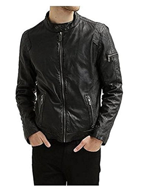 Laverapelle Men's Lambskin Real Leather Jacket Black - 1510414