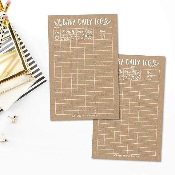 amazon com newborn baby log tracker journal book infant daily