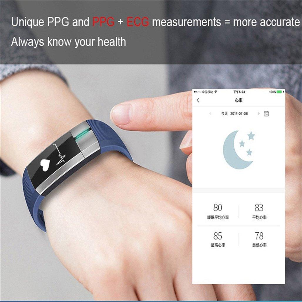 wawer G20 Bluetooth Smart Watch Tensiómetro de fecha electrocardiogramas Pulsómetro De Pulsera Compatible Sistema Android 4.4 y superior/IOS 8.2, ...