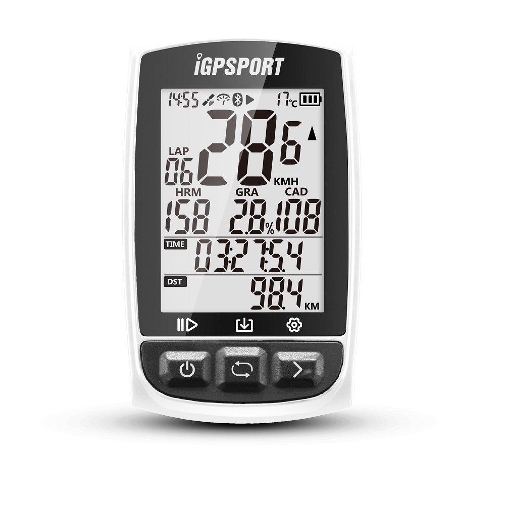 IGPSPORT iGS50E (Europäische Version) - Zyklus Computer GPS Fahrrad Radfahren. quantor Aufnahme von Daten und Routen. Display 2.2 reflexionsarmen. Blautooth Verbindung Ant + 2.4G. IPX7 (weiß)