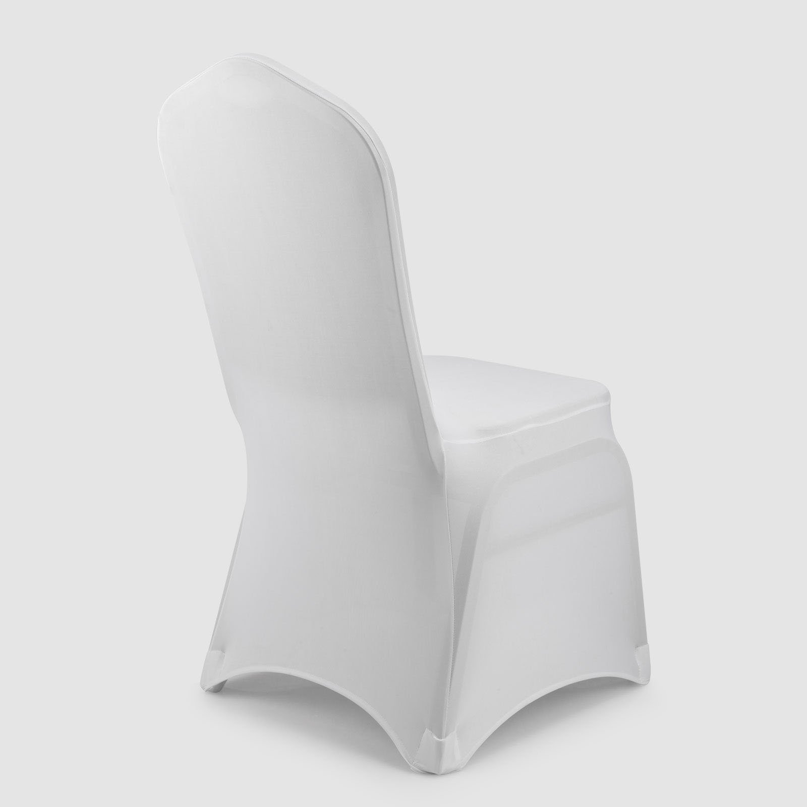 GFCC Set of 120pcs White Color Spandex Fitted Stretchable Chair Covers,Wedding Party Banquet Chair Covers