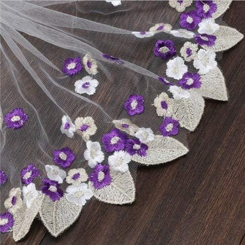 Tissu Costura - Tela de encaje con diseño de pavo real bordado ...