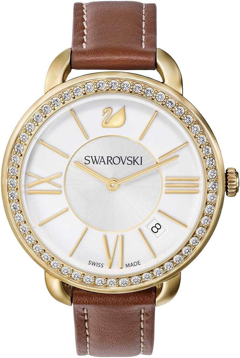 Swarovski AILA Day Reloj en Tono Oro Amarillo y marrón