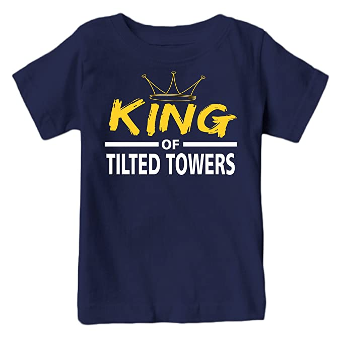 King of Tilted Towers Youth T-Shirt (Navy, YXS 2-4)