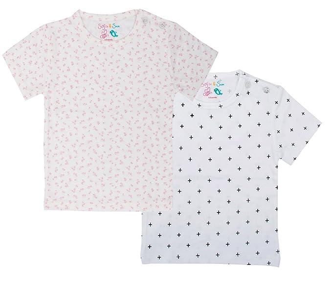 Sofie & Sam - Combo Pack de Camisetas para bebé, de algodón ...