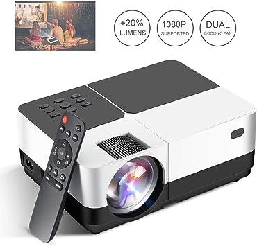 GJZhuan HD LED Projector, 3200 Lúmenes Home Cinema Proyector De ...