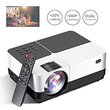 GJZhuan HD LED Projector, 3200 Lúmenes Home Cinema Proyector De ...