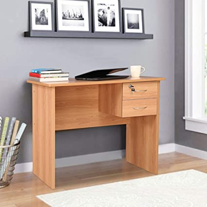 HomeTown Simply Engineered Wood Study Table in Honey Colour Desks