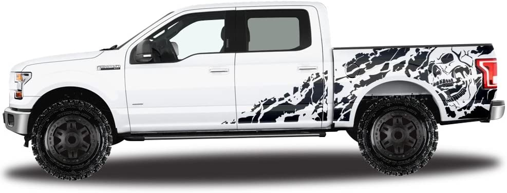 Matte Black Factory Crafts Nightmare Side Graphics Kit 3M Vinyl Decal Wrap Compatible with Ford F-150 SuperCrew 6.5 Bed 2009-2014