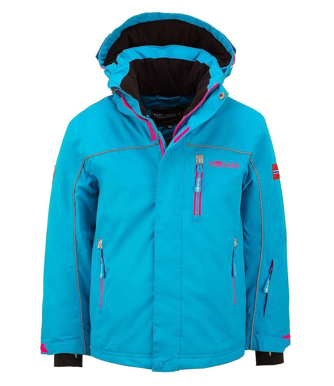 Turquoise 11-12 (152 EU) Trollkids Holmenkollen ski Snow Jacket XT