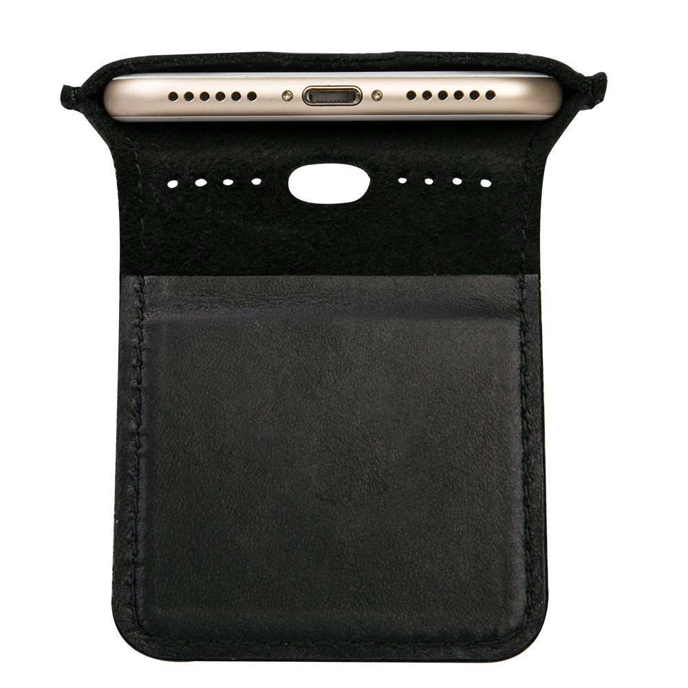 iPhone 7 Case, iPhone 8 Case, TOOVREN Men Leather Slim Cell Phone Sleeve Cover with Magnetic Clip for Apple iPhone 7 (2016) / iPhone 8 (2017) -Black by TOOVREN (Image #9)
