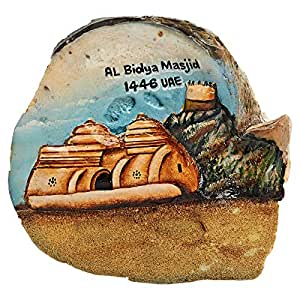 Seashell Souvenirs Natural Oyster Shell With Painted Heritage Scene For Albidya Masjed