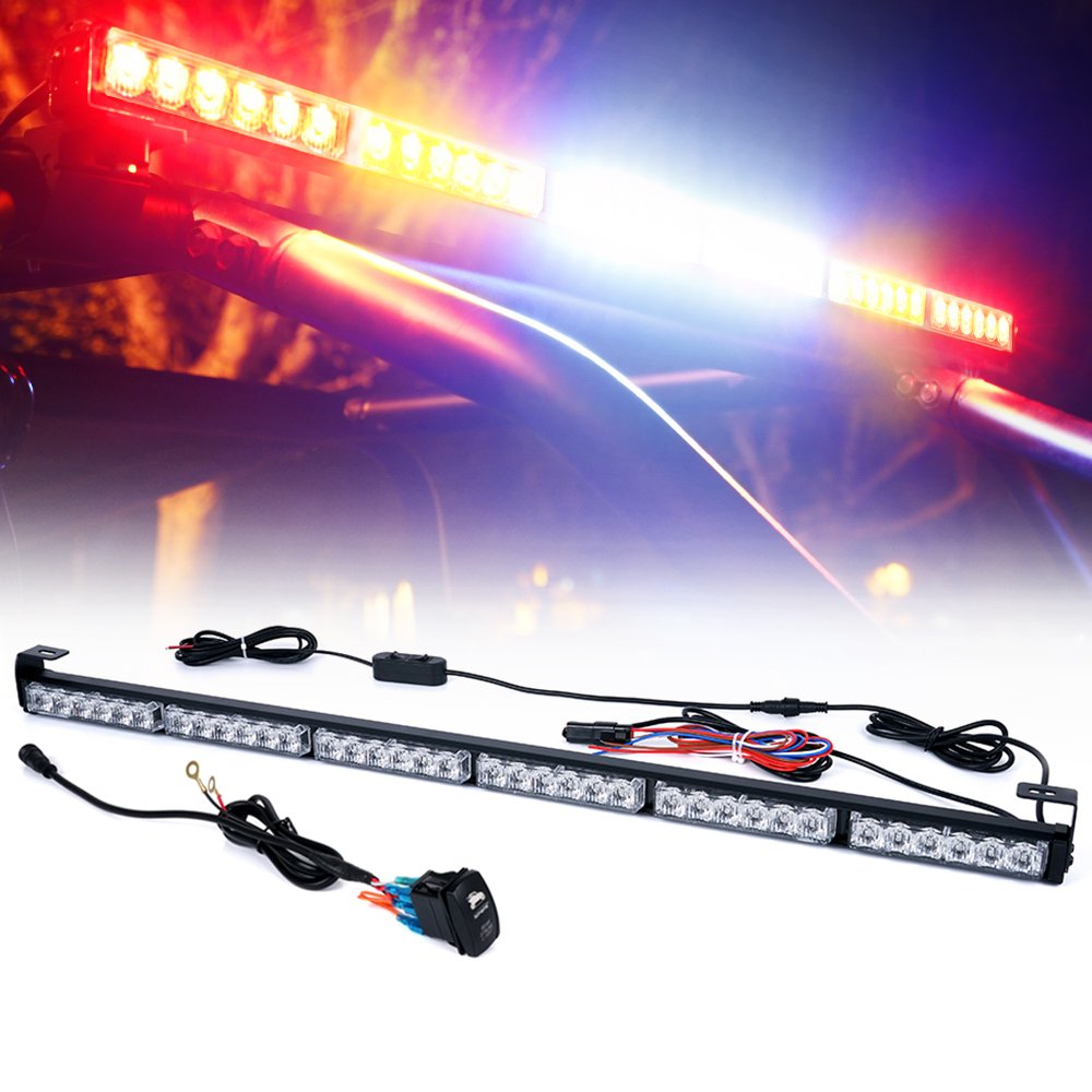 Xprite 36 Rear Chase Led Light Bars All In One W 12v Bar Wiring Diagram Strobe Brake Reverse For Yamaha Can Am Atv Utv Side By And Off Road Jeep Vehicles Rywwyr