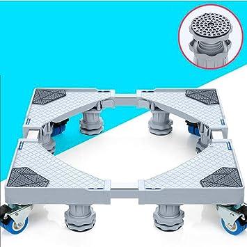 JXXDDQ Muebles Dolly Roller tamaño de la Base movible Ajustable con 4 Ruedas de Bloqueo y 8 pies Fuertes, Base telescópica Pedestal para Lavadora portátil ...
