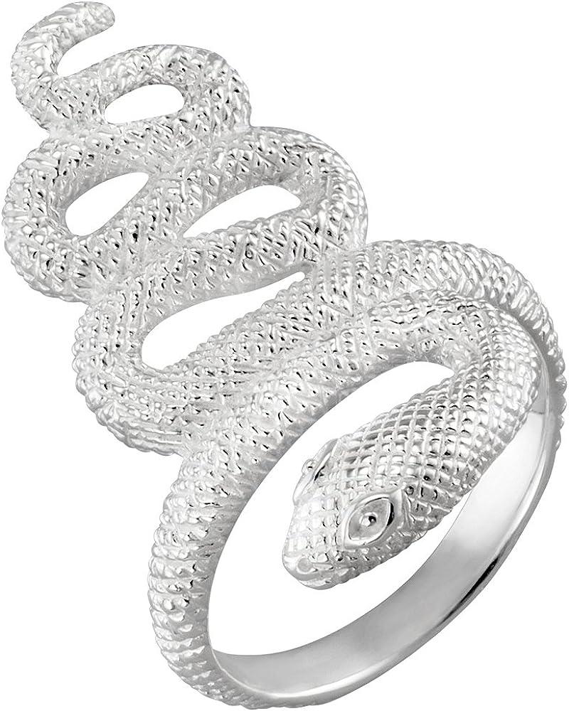 ROC Serpent Vinani Bague Argent 925 mat lustr/é
