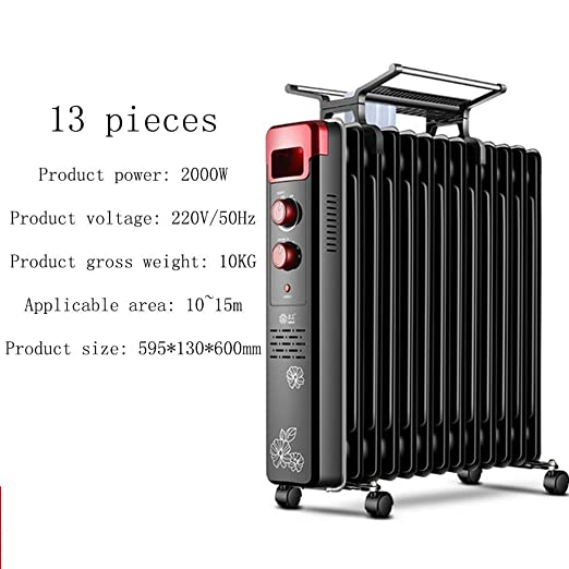XKHG Radiador,Radiador De Aceite 2000W, 13 Elementos - Calentador ...