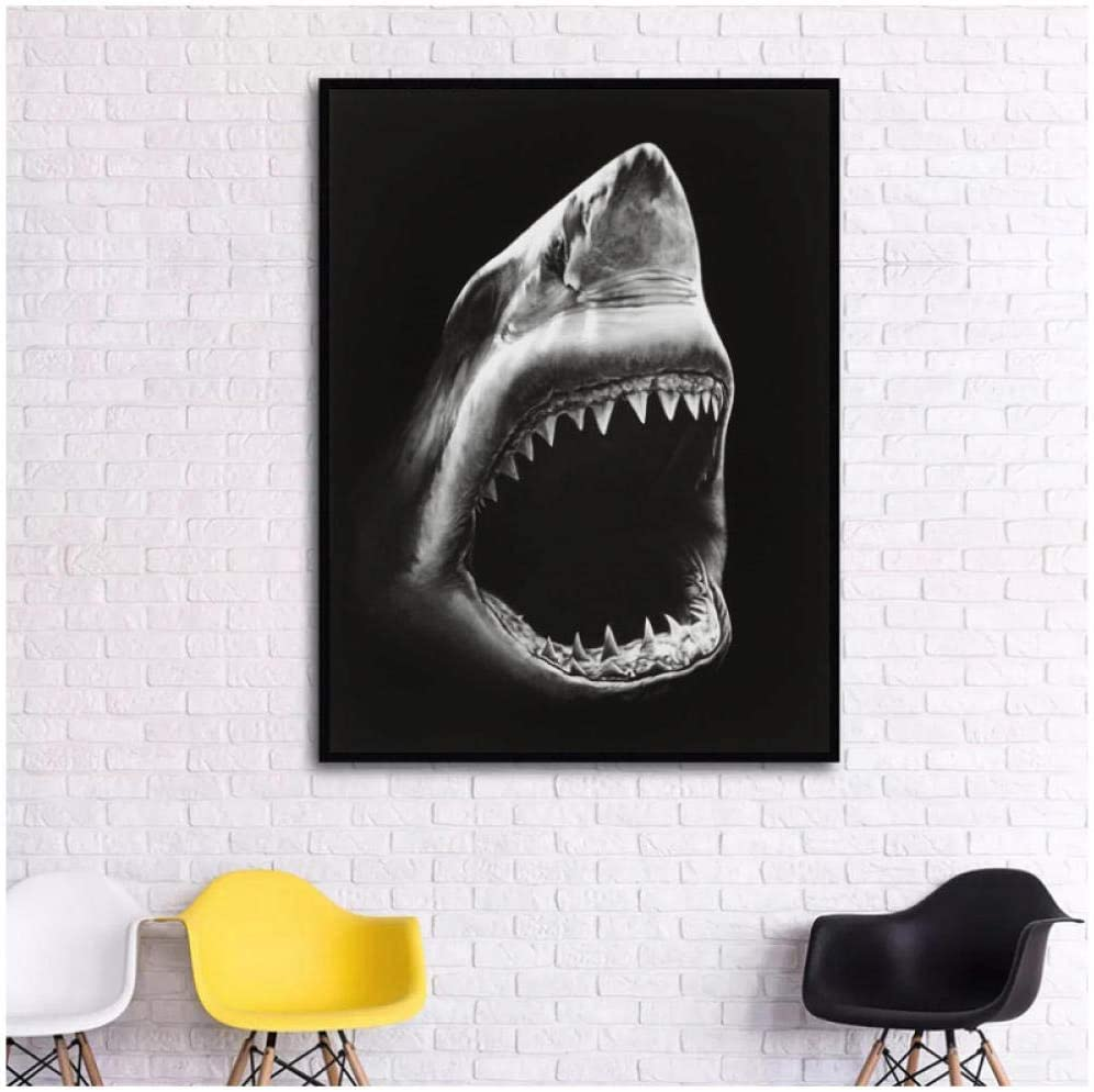 Dadyanzai Dolphin Painting Canvas Wall Art Picture Home Decoration Living Room Canvas Print Painting Large Canvas Art Robert Longo Shark 70X105Cm No Frame