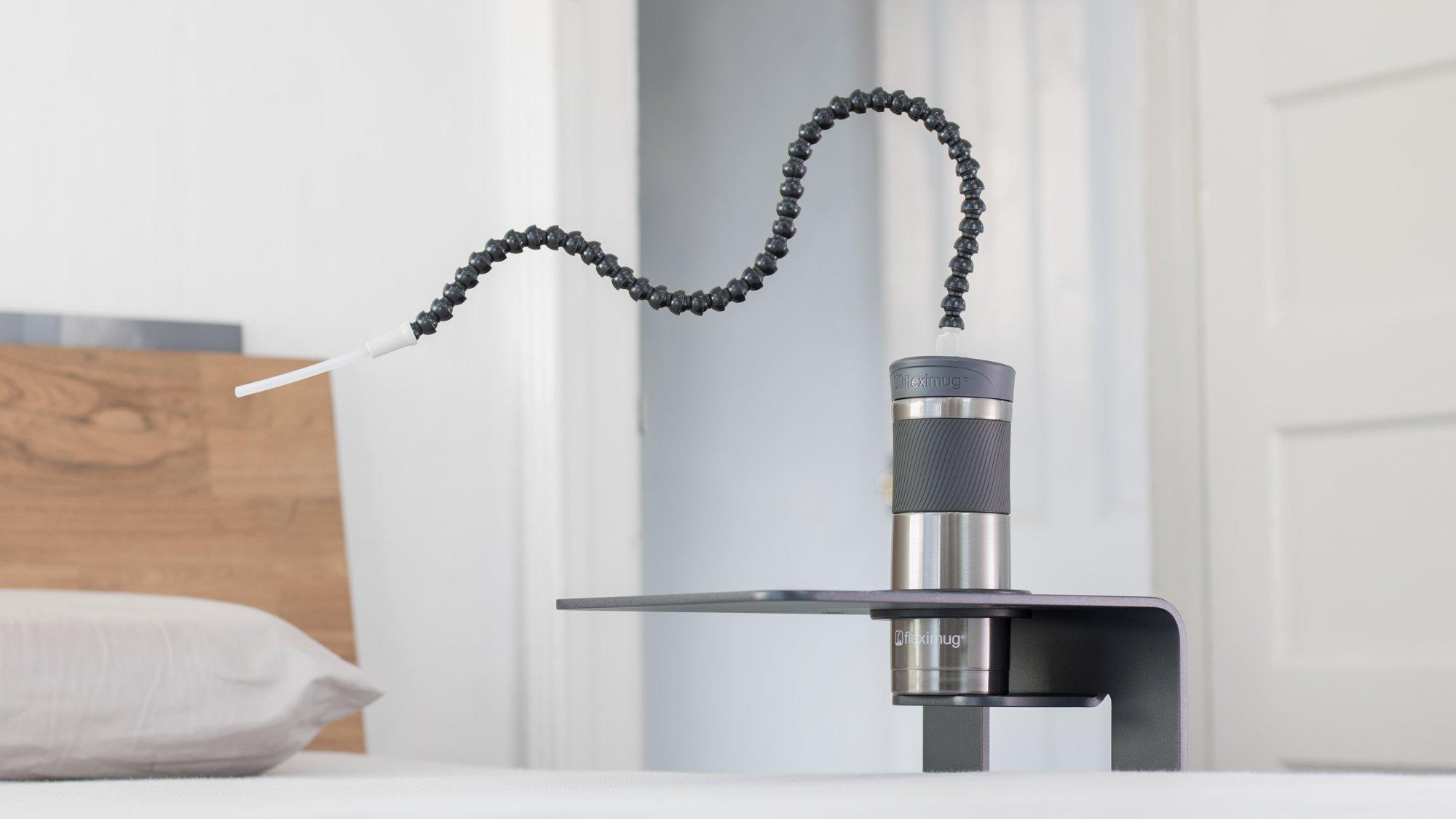 Fleximug & Flexistand - Hands Free Drinking System - Mug + Table (Combo) - Includes Fleximug with 36'' Straw by Fleximug