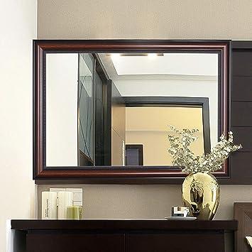 Croissant bathroom mirror Miroir Mural en Bois Rustique 36 X 28 Pouces Grand EY-66