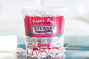 Stewart Candy Old Fashioned Pure Cane Sugar Candy Puff Balls -Made in the USA (Peppermint Flavor - 27oz Tub)