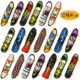BeautyMood 24 pcs Professional Mini Finger Skateboard, Creative Fingertip Movement for Adults and Children (Random Mode).