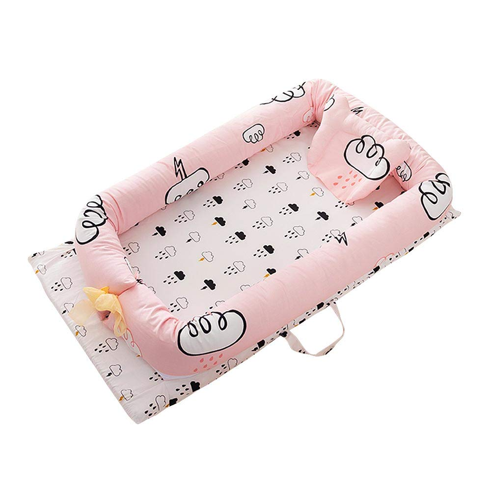 Moonvvin Baby Bed Portable Foldable Baby Crib Newborn Sleep Bed Travel Cot Bed Fences Protection by Moonvvin