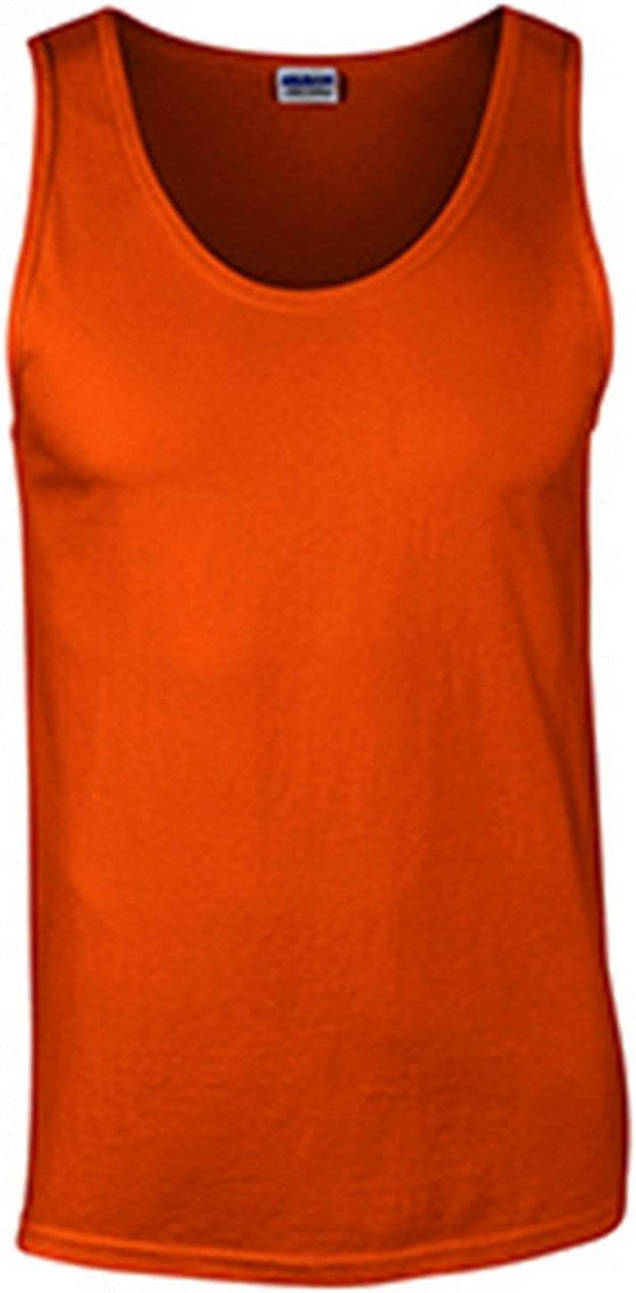 Gildan mens Ultra Cotton 6 oz. Tank(G220)-ORANGE-M